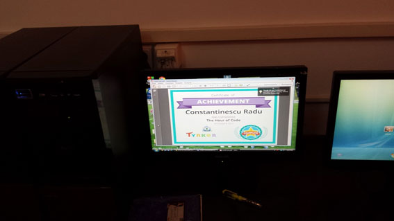 Figure 2. Scratch code awarded within the Hour of Code event